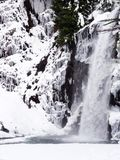 Beautiful waterfall in winter. Franklin falls, Washington state - beautiful waterfall in winter Royalty Free Stock Photography