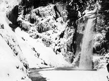 Beautiful waterfall in winter. Franklin falls, Washington state - beautiful waterfall in winter Stock Photography