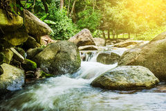 Beautiful waterfall. wonderful waterfall in thailand. Royalty Free Stock Images