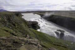 Beautiful Waterfalls. Golden falls at Southwest Iceland Stock Photography