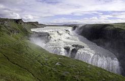 Beautiful Waterfalls. Golden falls at Southwest Iceland Royalty Free Stock Images
