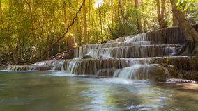 Beautiful waterfalls in deep forest national park Royalty Free Stock Image