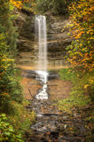 Beautiful Waterfalls in Fall Season of Michigan Royalty Free Stock Photos