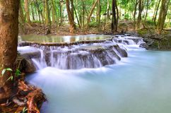 Beautiful waterfalls in the forest in Thailand. Nakhon Si Thammarat stock images