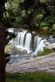 Beautiful waterfalls in Keila-Joa, Estonia. Summer time Royalty Free Stock Images