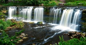 Beautiful waterfalls in Keila-Joa, Estonia. Summer time stock photos