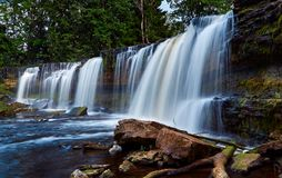 Beautiful waterfalls in Keila-Joa, Estonia. Summer time Stock Photo
