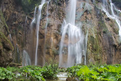Beautiful waterfalls in mountains Stock Photography