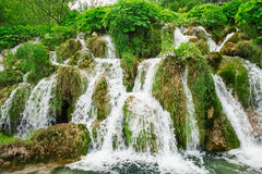 Beautiful waterfalls in National park Plitvice lakes, Croatia. Image of beautiful waterfalls in Croatia Stock Photography