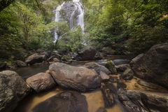 Beautiful waterfalls in national park in Thailand. Khlong Lan Waterfall, Kamphaengphet Province. Beautiful waterfalls in national park in Thailand. Khlong Lan Royalty Free Stock Images