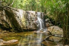 Beautiful waterfalls on Phu Qhoc Island Stock Image
