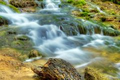 Beautiful waterfalls at Plitvice Lakes Stock Photos