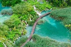 Beautiful waterfalls in Plitvice Lakes National Park, Croatia Royalty Free Stock Photography