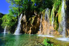Waterfalls of Plitvice Lakes, Croatia Stock Image
