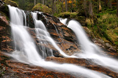 Beautiful waterfalls Rissloch-Germany. Beautiful waterfalls Rissloch in the Bavarian Forest-Germany Royalty Free Stock Photos