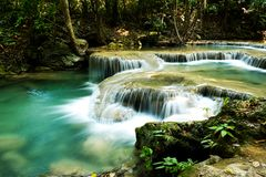 Beautiful waterfalls in Thailand royalty free stock images