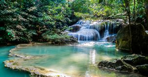 Beautiful waterfalls in Thailand stock images