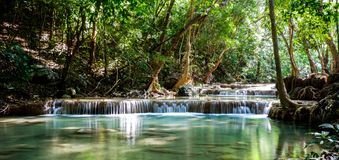 Beautiful waterfalls in Thailand royalty free stock image