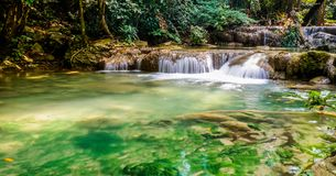 Beautiful waterfalls in Thailand royalty free stock photography