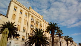 Beautiful waterfront buildings on the Riva in Split Royalty Free Stock Photography