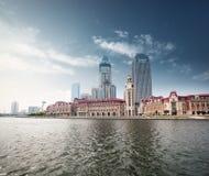 Beautiful waterfront city Royalty Free Stock Image