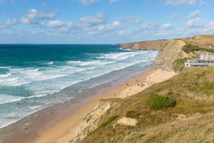 Beautiful Watergate Bay Cornwall England UK Cornish north coast between Newquay and Padstow Stock Photos