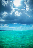 Beautiful waters of the caribbean sea near saona island Stock Image