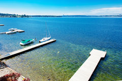 Beautiful waterview from luxury condo. Royalty Free Stock Image