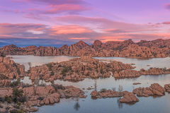 Beautiful Watson Lake Siunset Royalty Free Stock Images