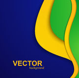 Beautiful wave Brazil flag colors concept. Colorful background Stock Photography