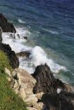 Beautiful waves of the Aegean Sea. Stock Image