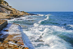 Beautiful waves as background located at Chalkidiki peninsula, G Stock Photography