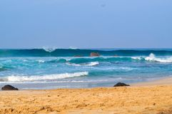 Beautiful Waves on the Beach 04 stock photography