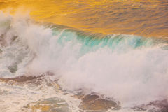 Beautiful waves at the beach Stock Photography