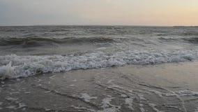 Black Sea coast. Beautiful waves on the Black Sea coast stock video footage