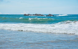 Beautiful waves on paradise beach Stock Images