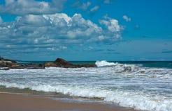 Beautiful waves on paradise beach Stock Image