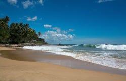 Beautiful waves on paradise beach Royalty Free Stock Photo