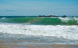 Beautiful waves on paradise beach Stock Photography