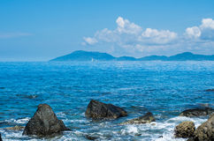Beautiful Waves of SanYa HaiNan China Stock Images