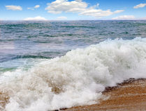 Beautiful waves of  sea Stock Images