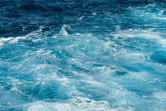 Beautiful waves in the sea during the summer royalty free stock photo