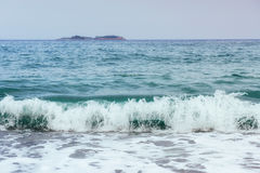 Beautiful waves on the sea Royalty Free Stock Image