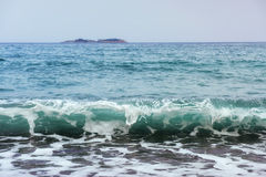 Beautiful waves on the sea Royalty Free Stock Images