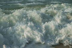 Beautiful waves of South China Sea on Dadonghai beach. Royalty Free Stock Photos