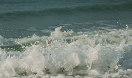 Beautiful waves of South China Sea on Dadonghai beach. Royalty Free Stock Photography