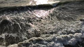 Beautiful waves and stones stock footage