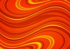 Beautiful Waving Orange Abstract background,Wonder and Cream concept,design for texture and template. royalty free illustration