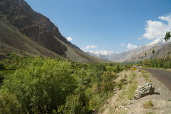 Beautiful way from Kargil to Suru Valley in India Royalty Free Stock Images