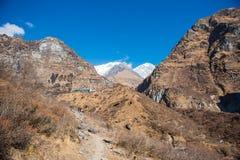 Beautiful way for trekking to Annapurna base camp Royalty Free Stock Photo